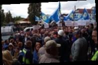 Металлурги трех областей вышли на протесты из-за угрозы закрытия НГЗ