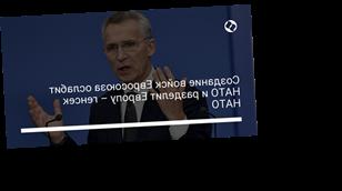 Создание войск Евросоюза ослабит НАТО и разделит Европу – генсек НАТО