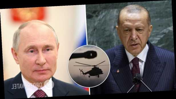 Турецкие военные перед визитом Эрдогана к Путину обстреляли российский вертолет в Сирии