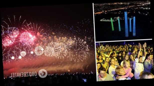 В Днепре День города завершили зрелищным свето-лазерным шоу. Фото