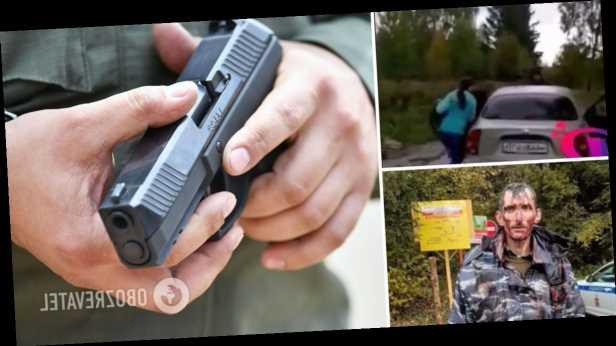 В России экс-наемник »ДНР» похитил двух детей на глазах у их отца, угрожая оружием. Видео