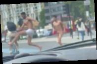 В центре Лондона голые мужчины нападали на прохожих