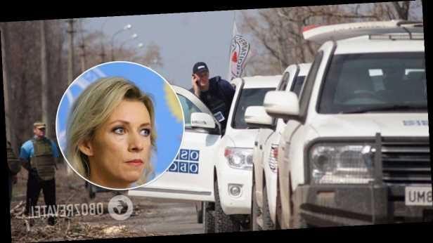 Захарова назвала »нецелесообразной» работу миссии ОБСЕ на границе с Украиной