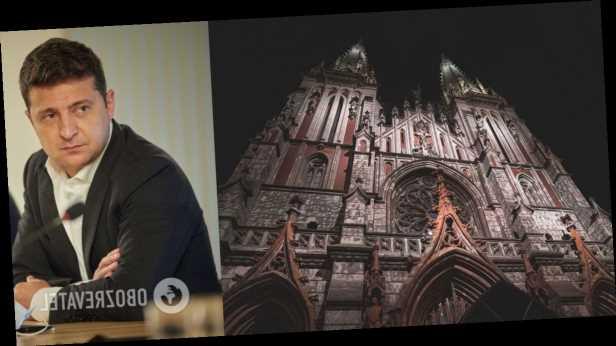 Зеленский поручил Кабмину срочно отреставрировать костел Святого Николая в Киеве