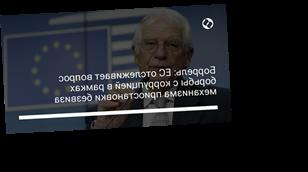 Боррель: ЕС отслеживает вопрос борьбы с коррупцией в рамках механизма приостановки безвиза
