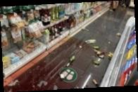 Опубликованы видео землетрясения в Токио