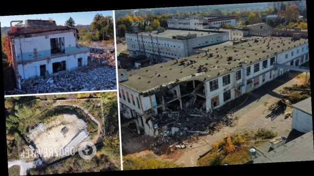 В Житомире снесли знаменитую фабрику носков, построенную еще в 1935 году. Фото и видео
