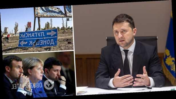 Зеленский провел разговор с Меркель и Макроном о »нормандском саммите» и войне на Донбассе